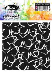 Visible Image Stencil - Entwined Butterflies